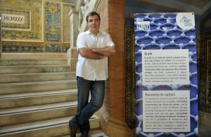 26-05-2015 Catalunya - Barcelona - Casa convalescència - Hospital de Sant Pau - Konstantin Novoselov - Premi Nobel Física 2010 - foto Marga Cruz